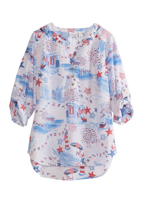 Kim Rogers® Petite 3/4 Sleeve Woven Top