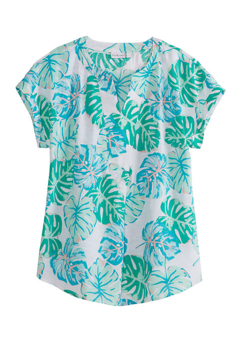 Kim Rogers® Womens Short Sleeve Liano Top