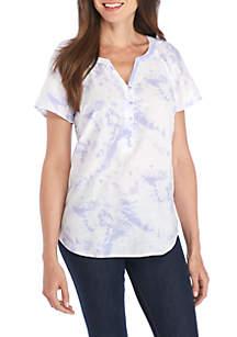 Short Sleeve Tie-Dye Liano Top