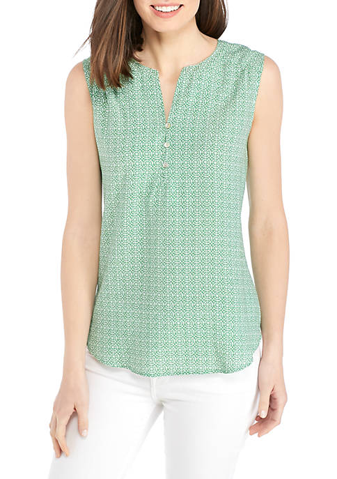 Kim Rogers® Sleeveless Liano Print Top