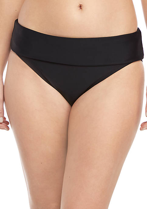 Beach Diva High Waist 2-Way Foldover Swim Bottoms