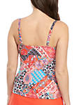 Patched Up Ruffle Front Swim Tankini