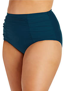 Raisins Curve Plus Size Samba Solids Costa Swim Bottom