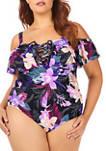 Plus Size Cubana One-Piece Swimsuit