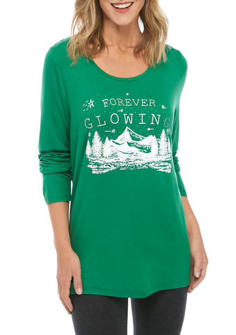 Joyland Womens Forever Glowing Graphic T-Shirt
