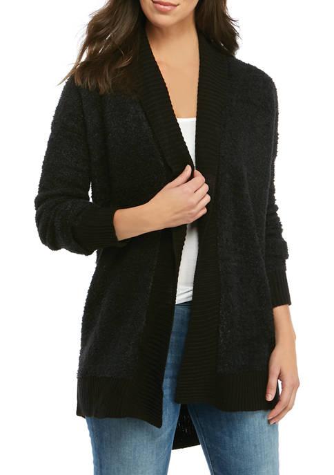 MERRY Wear Womens Solid Shawl Collar Cardigan