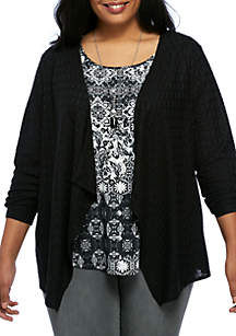 Textured Necklace 3Fer