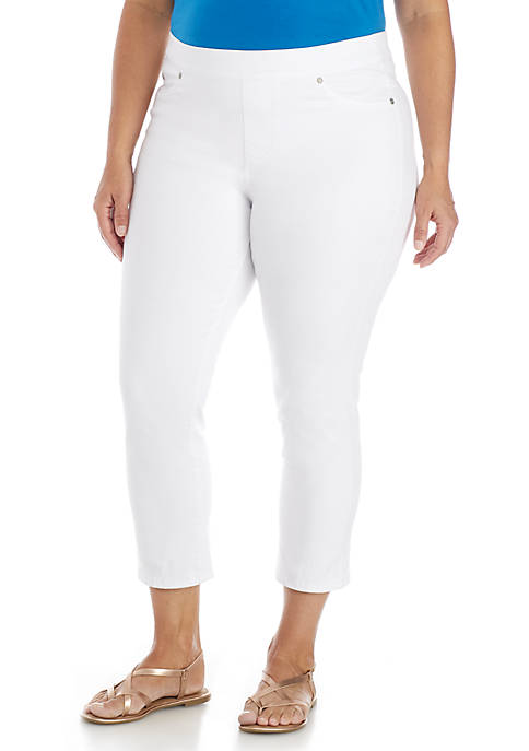 New Directions® Plus Size Pull-On Slim Capris