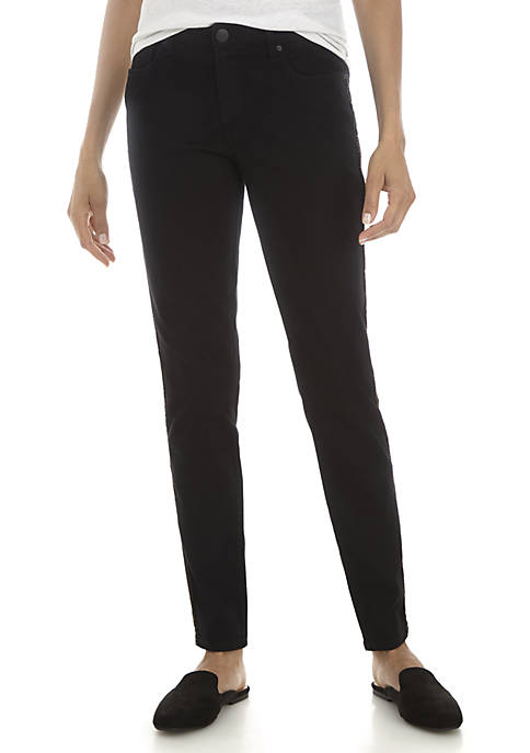 New Directions® Lurex Strand Skinny Jeans