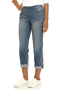 Tribal Pull-On Girlfriend Jeans