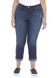 Plus Size Skinny Boyfriend Jeans