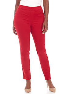 Plus Size Pull-On Slim Leg Pants