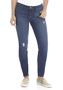 Petite Destructed Skinny Jeans