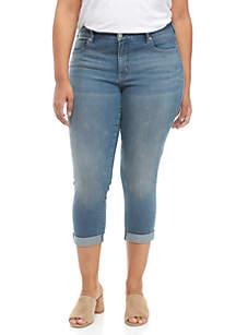 Plus Size Girlfriend Jeans with Mini Studs