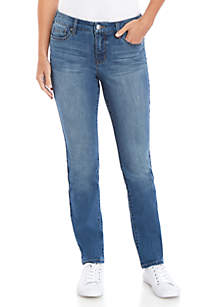 New Directions® Straight Leg Average Jeans
