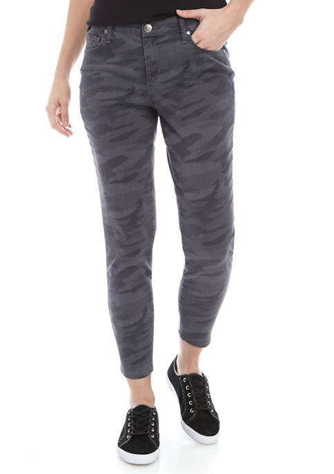 New Directions® Womens Skinny Ankle Printed Jeans
