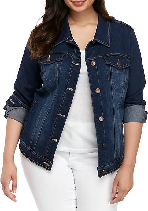 New Directions® Plus Size Denim Jacket