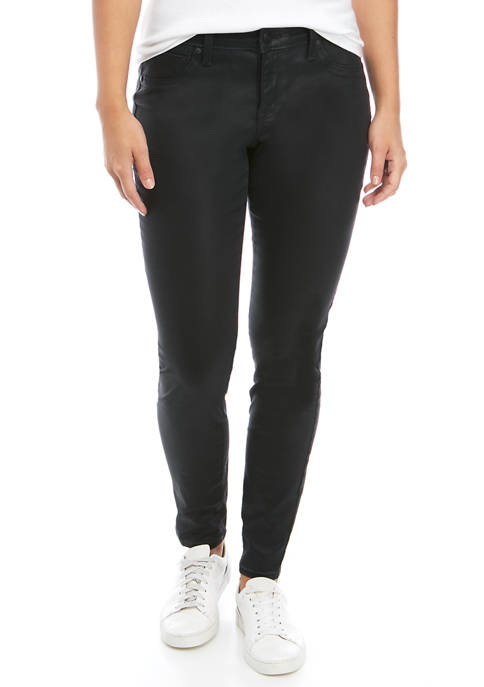 Womens Skinny Coated Jeans