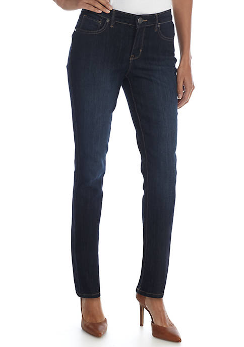 New Directions® Petite Straight Jeans