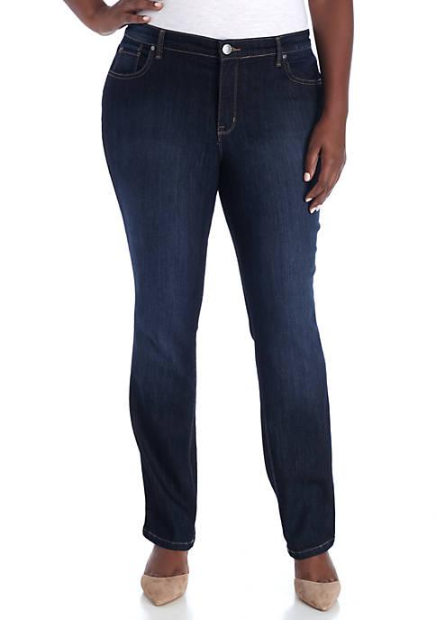Plus Size Straight Leg Average Jeans