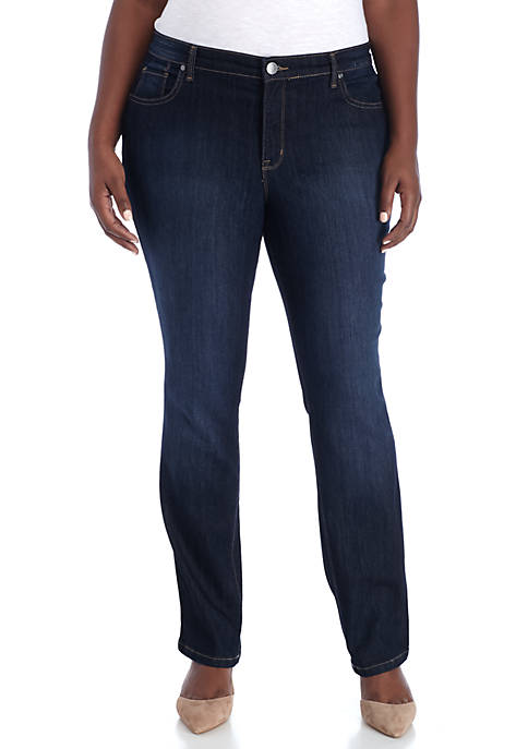 Plus Size Straight Jeans