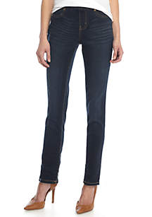 Petite Demin Pull-On Skinny Pants