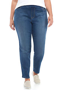 Plus Size Pull On Denim Pant