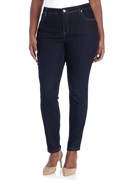 Plus Size Skinny Jeans- Short