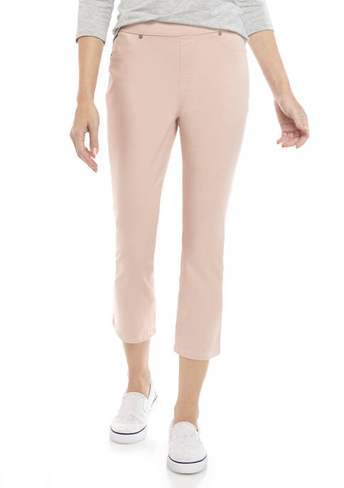 Womens Pull On Color Capri Pants