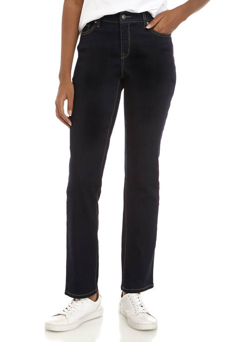 New Directions® Womens Straight Leg Jeans