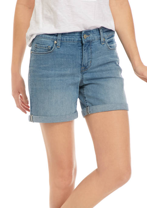 Womens Roll Cuff Shorts