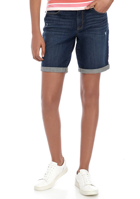 New Directions® Womens Cuffed Midi Shorts