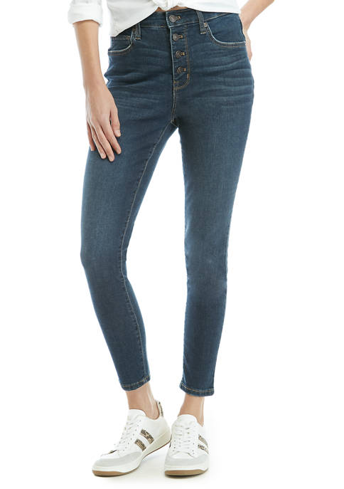 New Directions® Womens High Rise Skinny Ankle Pants