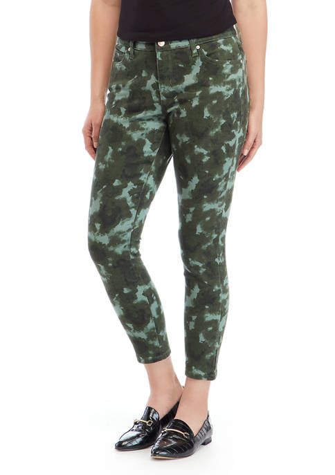 New Directions® Womens Printed Skinny Ankle Pants