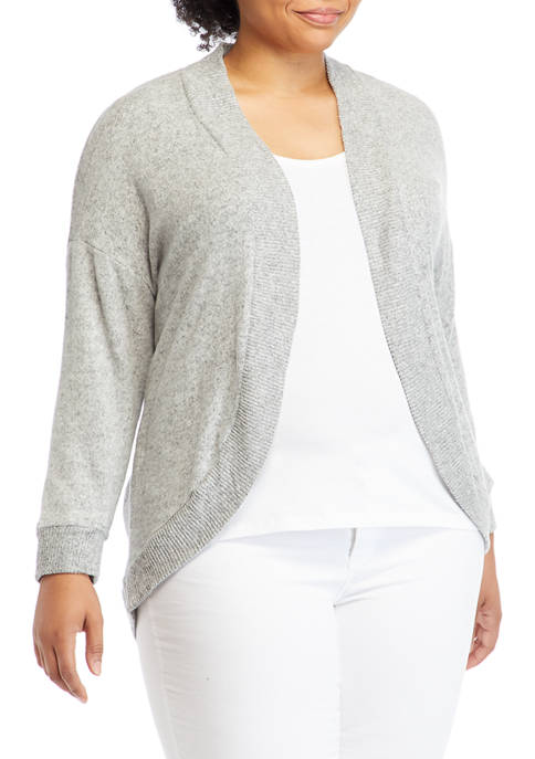 Plus Size Hacci Cocoon Cardigan