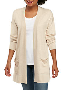 Drop Shoulder Pocket Cardigan