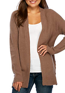 Mossy Side Lace Ribbed Cardigan