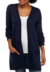 Pointelle Drop Sleeve Cardigan