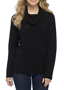 Cowl Neck Drop Shoulder Sweater