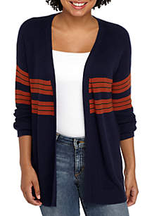 Multi Stripe Varsity Cardigan