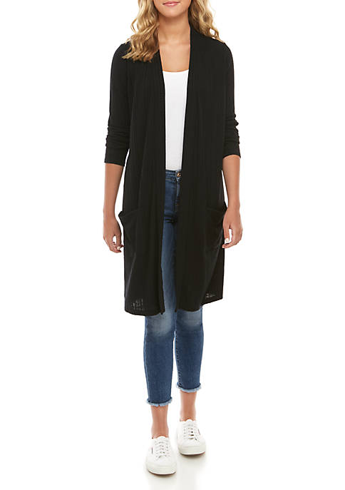 Long Sleeve Ribbed Duster