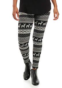 Printed Fleece Lined Leggings