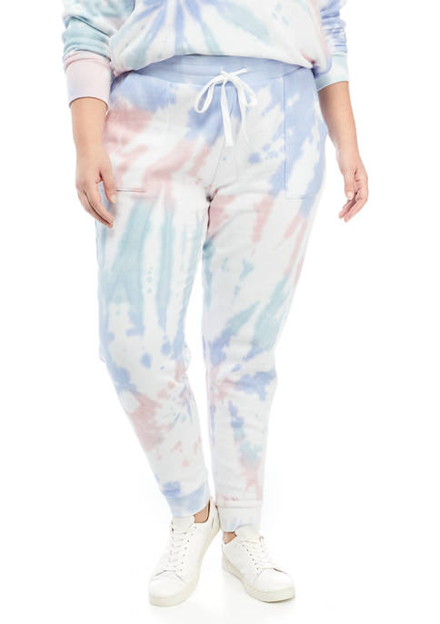 Plus Size Printed Jogger Pants