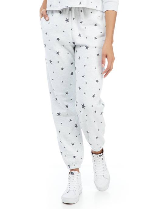 Juniors Tie Dye Fleece Jogger Pants