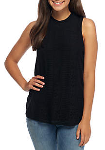Sleeveless Lace Knit Top