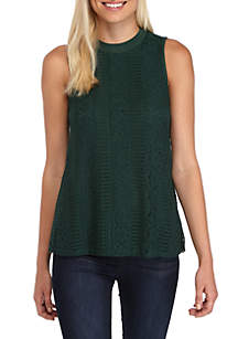 Sleeveless Lace Knit Top
