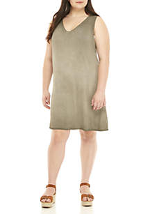 Lunar Wash Twist Back T-Shirt Dress
