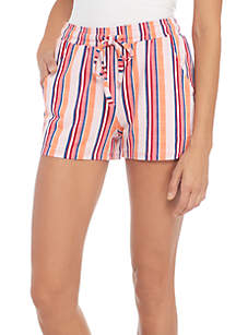 Knit Crepe Stripe Short