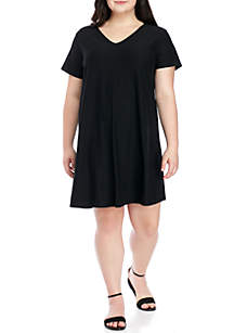 Plus Size T-Back Swing T-Shirt Dress