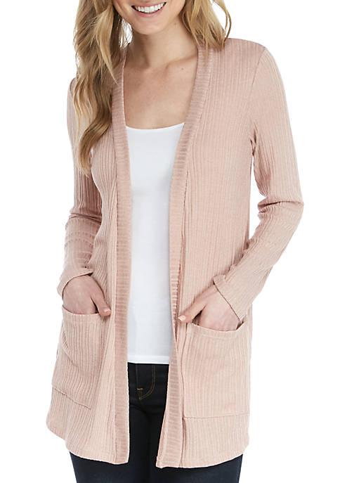 Long Sleeve Pocket Sweater Topper